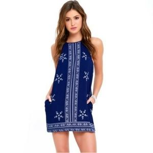 Lulu's Blue Embroidered Dress